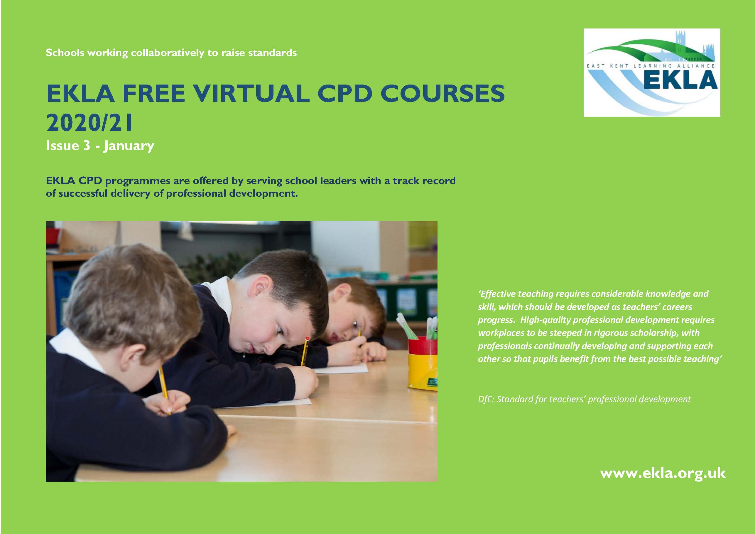 NEW EKLA CPD Courses 2020.21 Issue 3 January